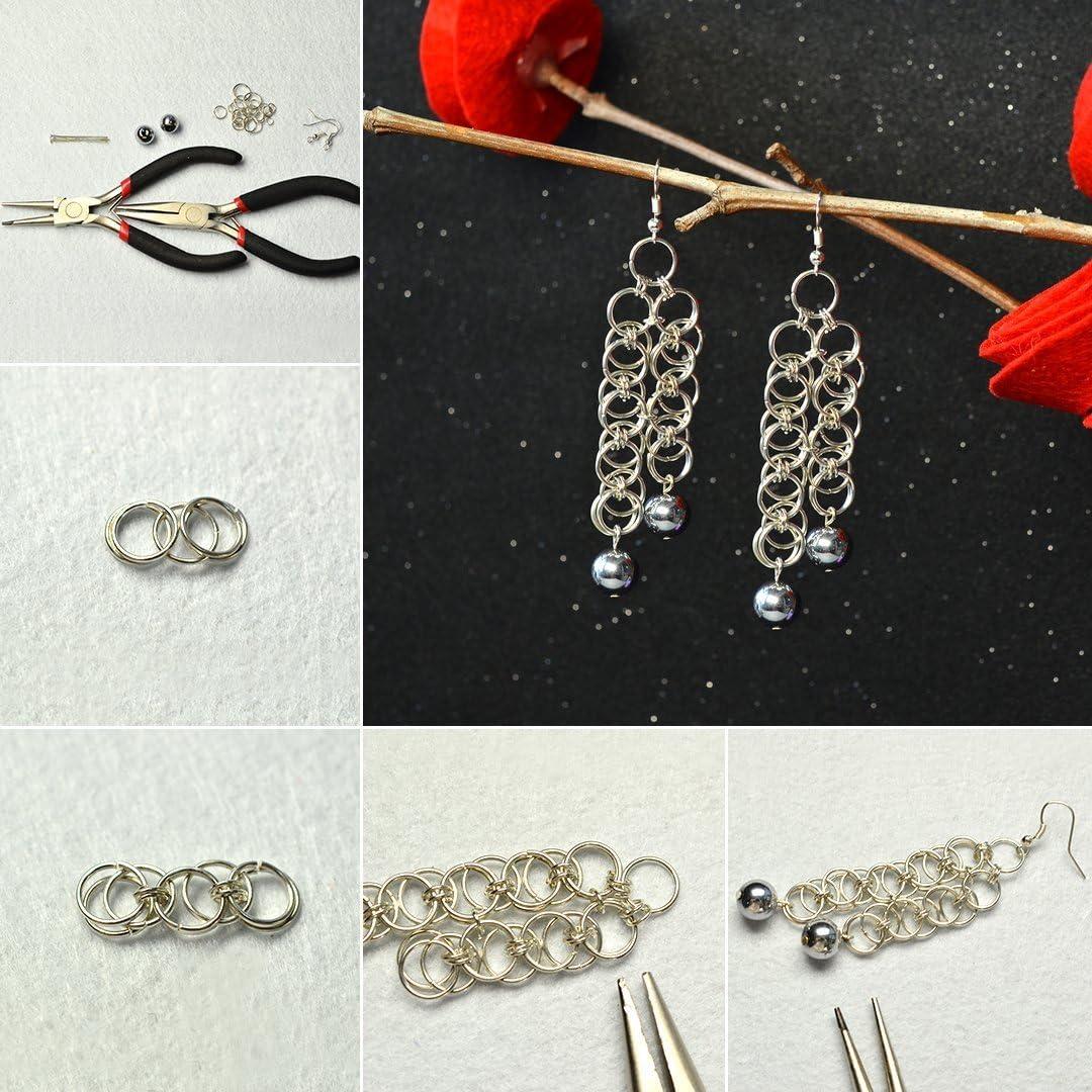 YF 20PCS 925 Sterling Silver Double Loop Split Ring for DIY Jewellery Making Findings 5.0mmx0.5mm