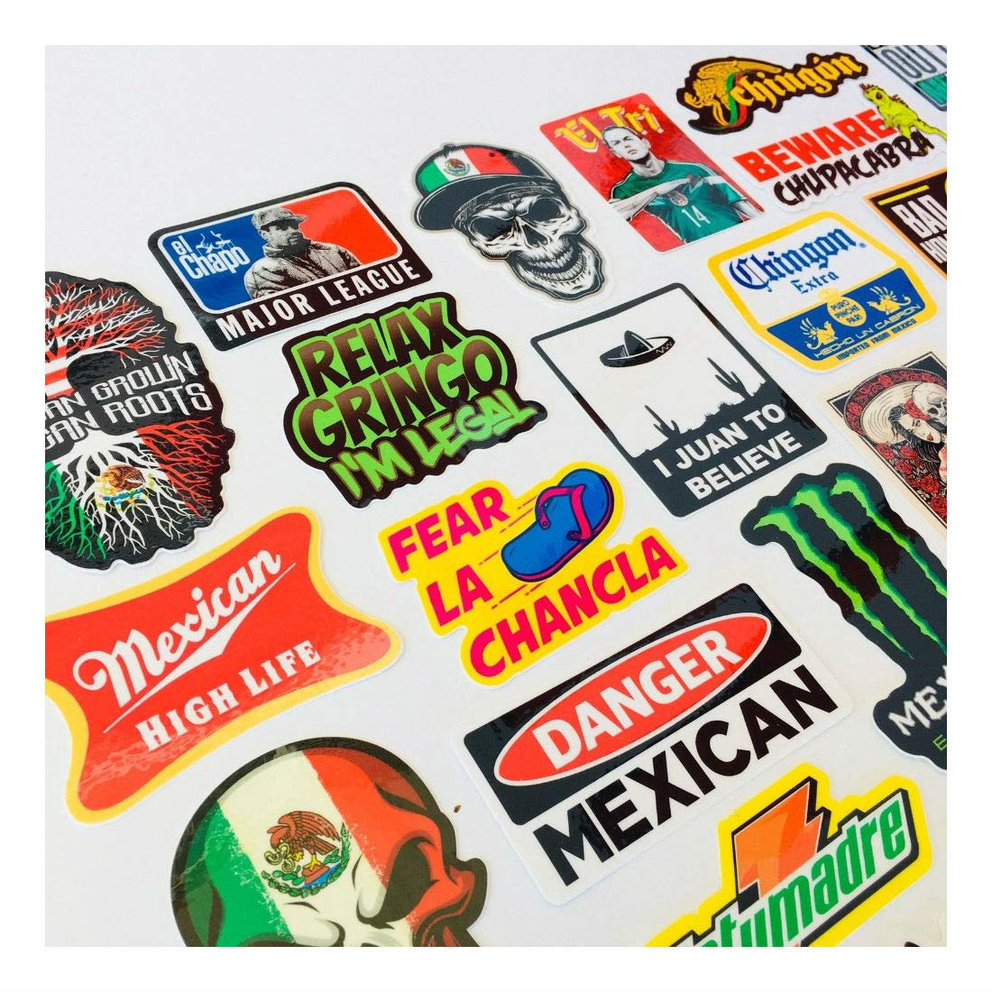 MEXICAN CHINGON Hard Hat Stickers 40 MEXICO HardHat Sticker Pegatinas cascos by Unknown (Image #8)