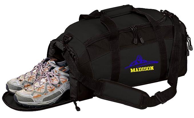 dfe0476801 All about me company Personalized Swim Gym Sports Duffel Bag (Black)