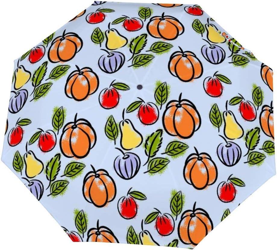 Cheyan Folding Umbrella Windproof Rainproof Portable Lightweight Travel Compact Custom Manual Seamless Colorful Fruits