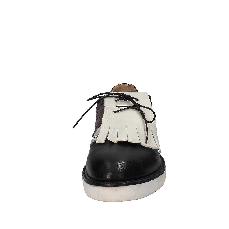 MOMA Herren Elegante Schuhe Herren MOMA Leder schwarz 3698fe