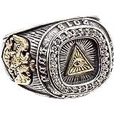 ジナブリング (JINA BRING) リング 指輪 プロビデンスの目 ジルコニアカレッジリング フリーメイソン シルバー925
