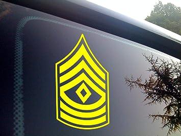 Army E-9 Command Sergeant Major Veteran Retired Decal Sticker Car Truck Laptop