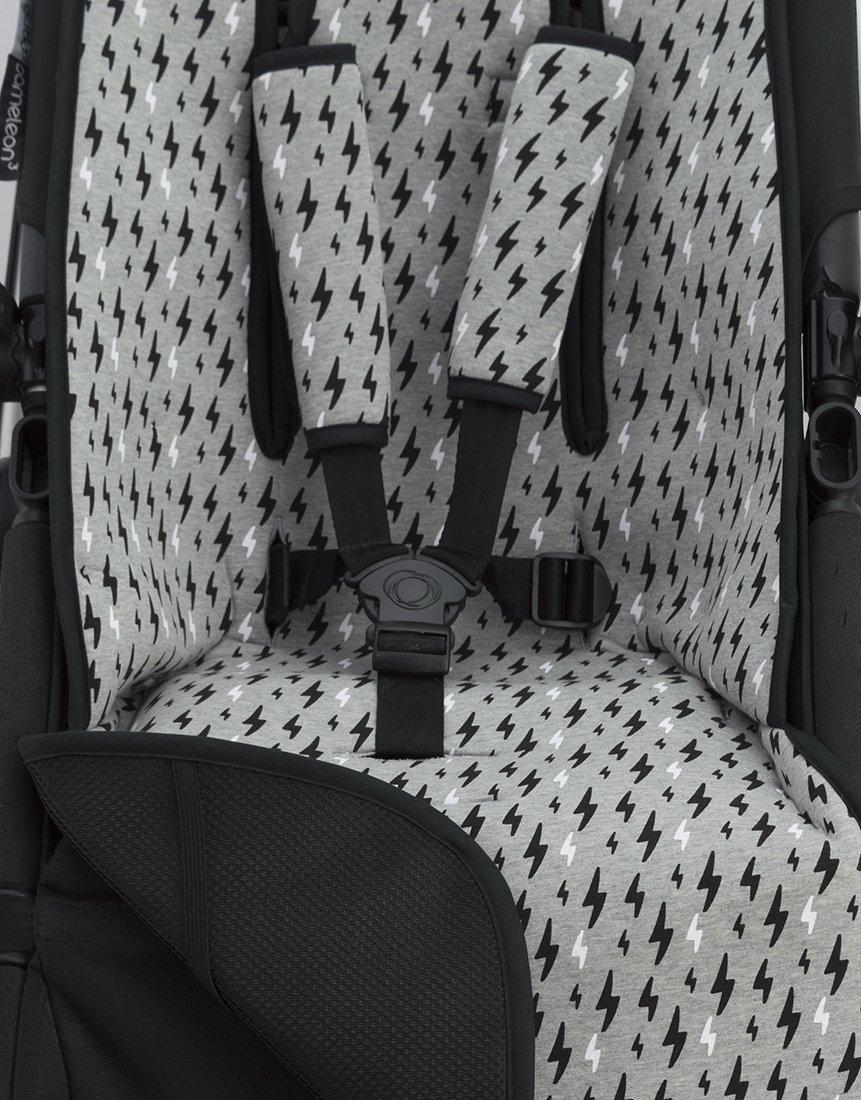 BLACK RAYO Schutz des gepolsterten Geschirr f/ür Kinderwagen Janabebe/® Universal Matratze gepolsterten