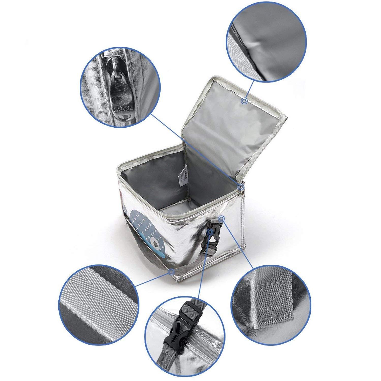Sac /à D/éjeuner Lunch Bag Isotherme Pratique Portable Insulated Bag Protection de fra/îcheur Sac de Repas Pique-Nique Appropri/é Femme Enfant Fille