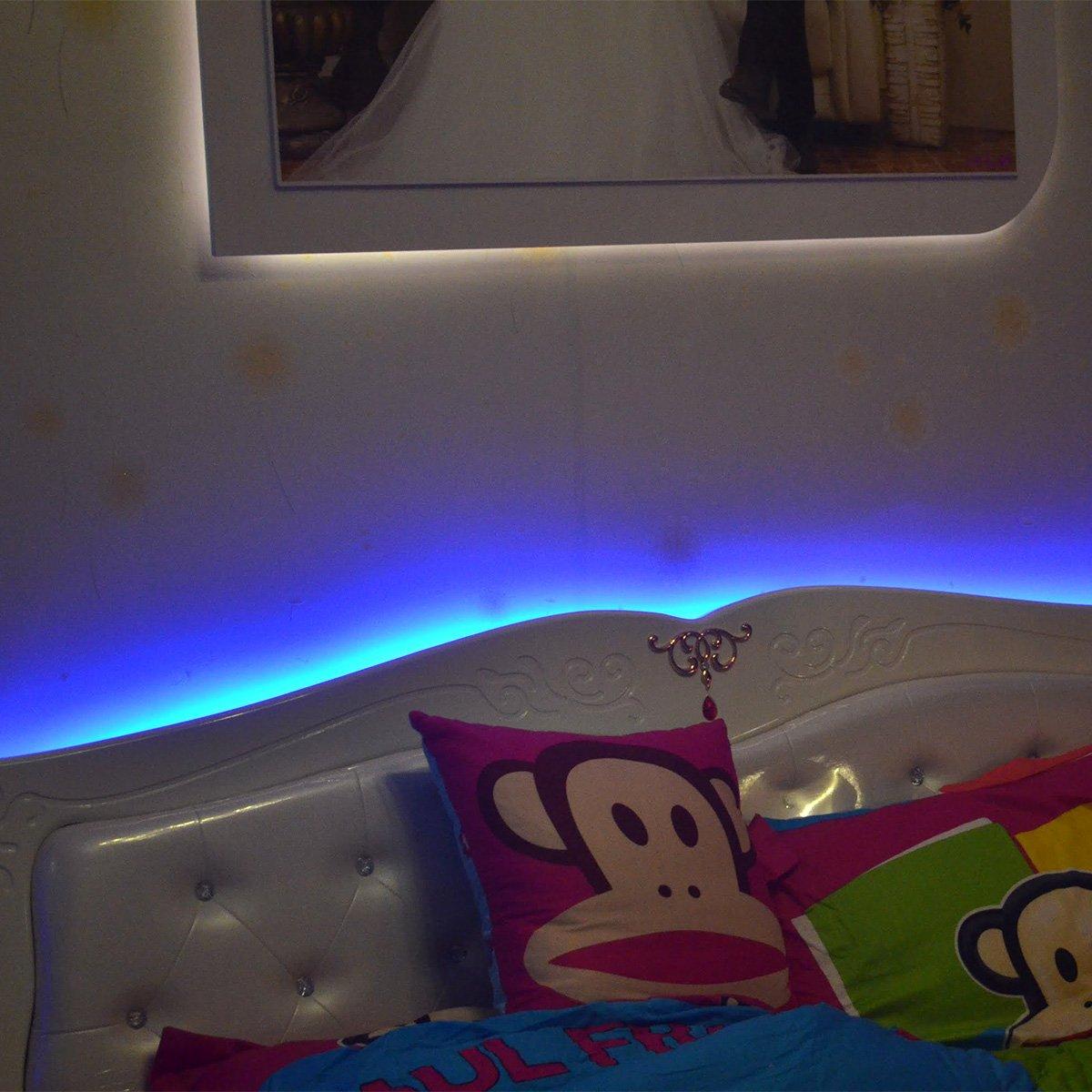 epbowpt RGB Tira LED 32.8/ft//10/m 24/V RGB LED Strip SMD 5050/IP65/resistente al agua 600LEDs el cambio de color 60leds//m LED Banda Barra de luz solo un listones de luz