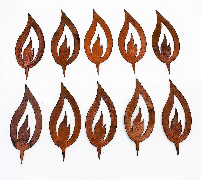 Rost Flamme Metall  Garten Dekoration Edelrost  3 Größen