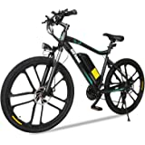 "Gotrax Electric Bike 26"" - 20MPH & 50 Mile Range - 350W Motor - Shimano 21-Speed Commuter Electric BMX Bicycle Travel E…"
