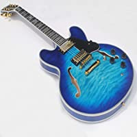 Semi-hollow body custom electric jazz guitar