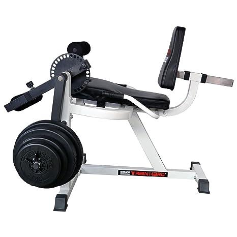 Hansson Sports Hombre Pierna beuger TrainHard – Fuerza Station Fitness Center Banco de Pesas con Entrenamiento