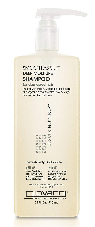 Giovanni Smooth as Silk Shampoo - Deep Moisturizing and Frizz Calming Formula 24 Fl Oz (Pack of 1)