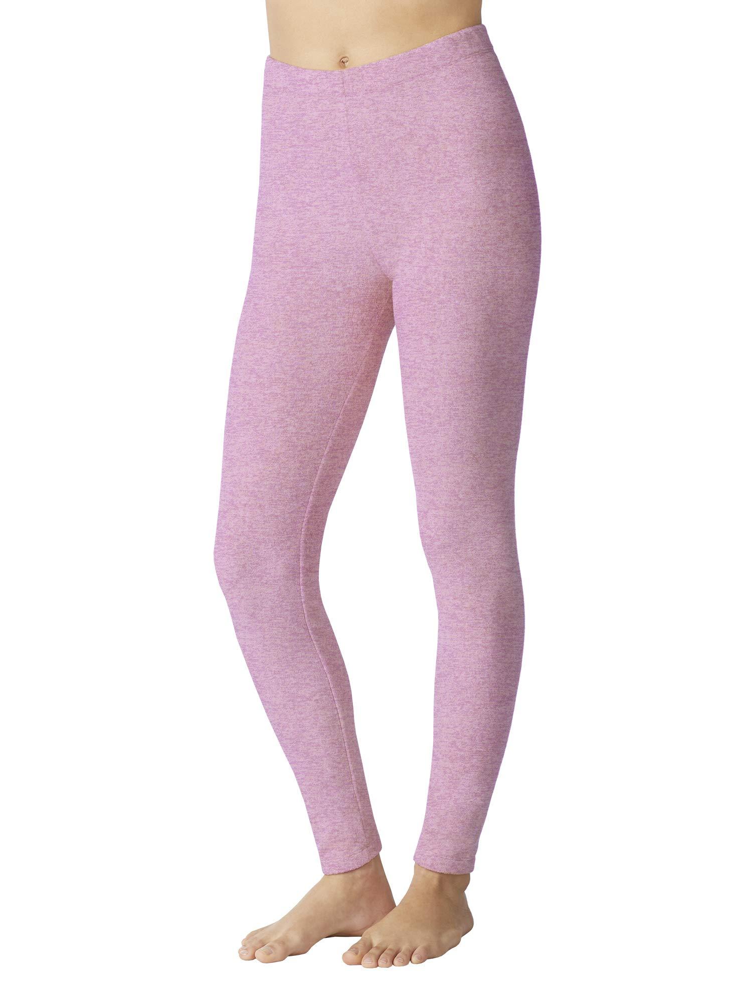 Cuddl Duds ClimateRight Stretch Fleece Warm Underwear Legging XL, Black With Subtle Embossing