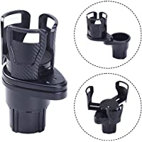 ATMOMO 2 in 1 Multifunctional Dual Cup Holder Car Cup Mount Extender Drink Can Bottles Stand with Adjustable Base