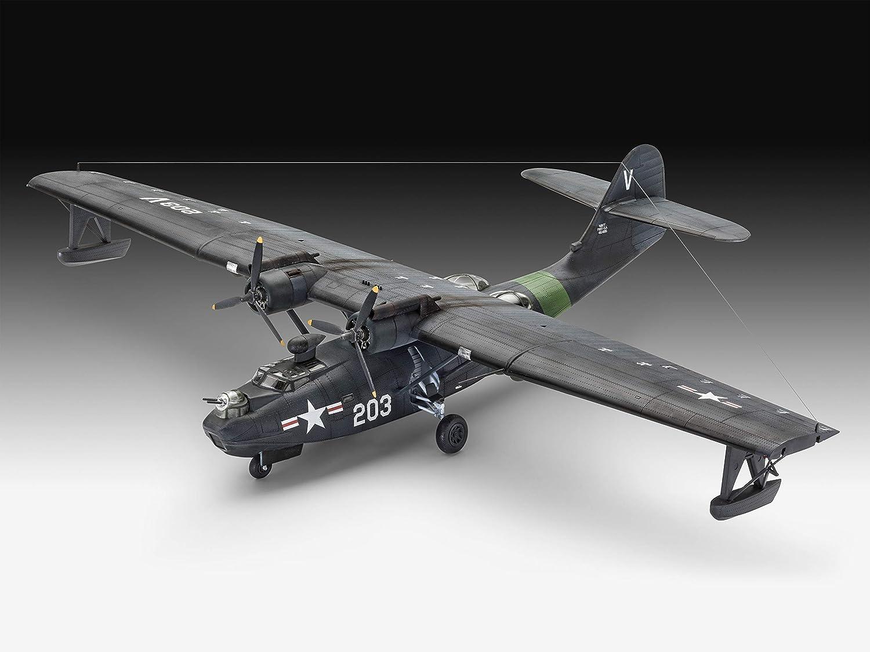 Revell GmbH 03902 PBY-5a Catalina Plastic Model Kit 1:72 Grey
