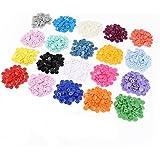 FlyRay 300pcs 20 colores tamaño 20 T5 broches resina plástica Poppers botones Snap sementales