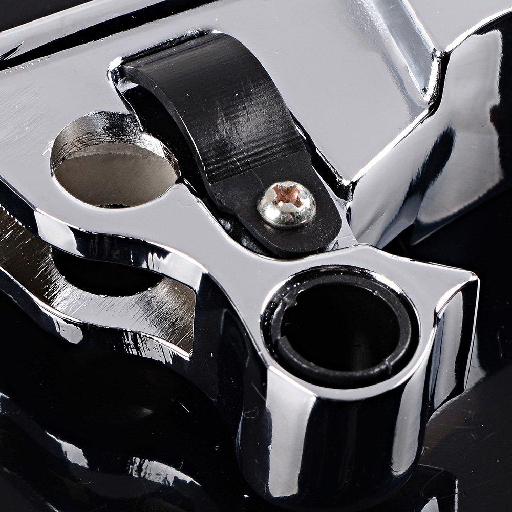 Matte Black 1 Pair Aluminum Ergonomic Designed Brake Clutch Levers for 2008-2013 Harley-Davidson Touring