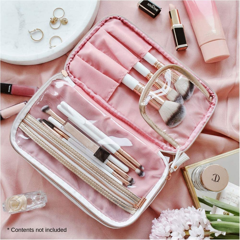 Bolso organizador de maquillaje Oro Rosa de Lily England | Bolso de almacenamiento/Neceser. Garantía de duración. Gran idea para regalar: Amazon.es: Belleza