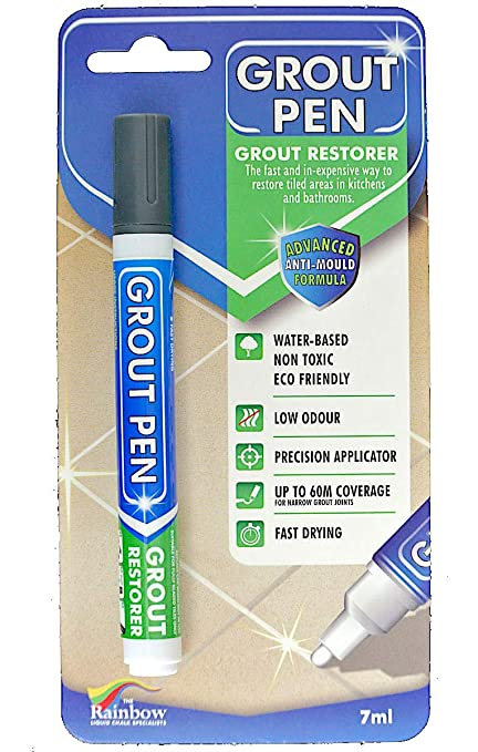 Grout Pen Dark Grey - Revives & Restores TILE GROUT: Amazon.co.uk ...