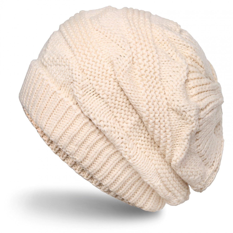 CASPAR Damen grob gestrickte Winter Mütze / Strick Beanie / Strickmütze mit tollen Mustern - viele Farben - MU115