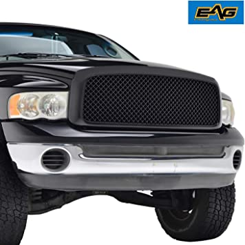 Amazon Com Eag Replacement Upper Grille Front Hood Mesh Grill Fit For 02 05 Dodge Ram 1500 03 05 Dodge Ram 2500 3500 Heavy Duty Automotive