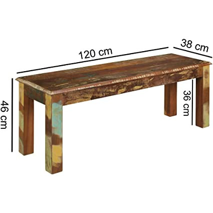 Excellent Seat Kakutta 120 X 45 X 38 Cm Mango Solid Wood Dining Bench Pabps2019 Chair Design Images Pabps2019Com