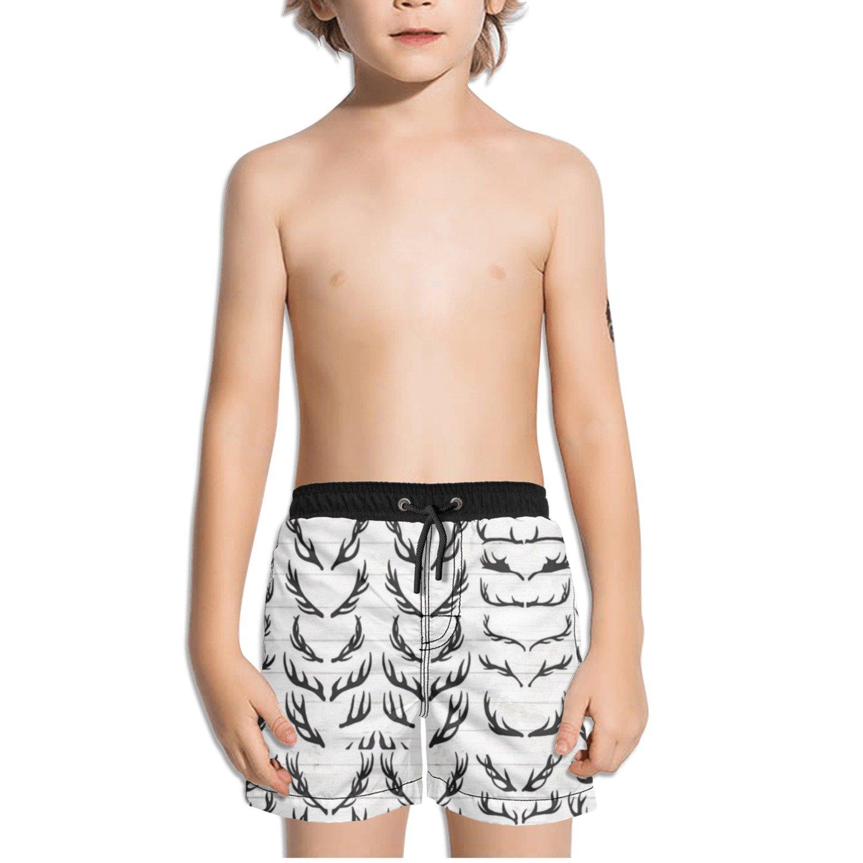 Ouxioaz Boys Swim Trunk Antler Silhouette Clipart Beach Board Shorts