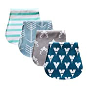 """Baby Burp Cloths 4 pack, 100% Organic Cotton   Large, Triple Layer, Ultra Absorbent & Soft  Burping Rag for Newborn, Gender Neutral  Baby Shower Set for Boys & Girls """" Ranger Set"""" By Chunky Chops"""