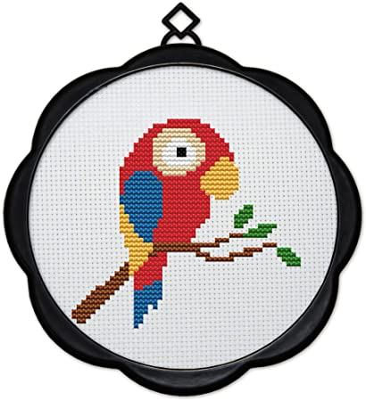 6.7X6.7 Joy Sunday Full Range of Embroidery Starter 11CT Stamped Cross Stitch Kits Beginners for DIY Embroidery Kit 17X17cm Owl Christmas