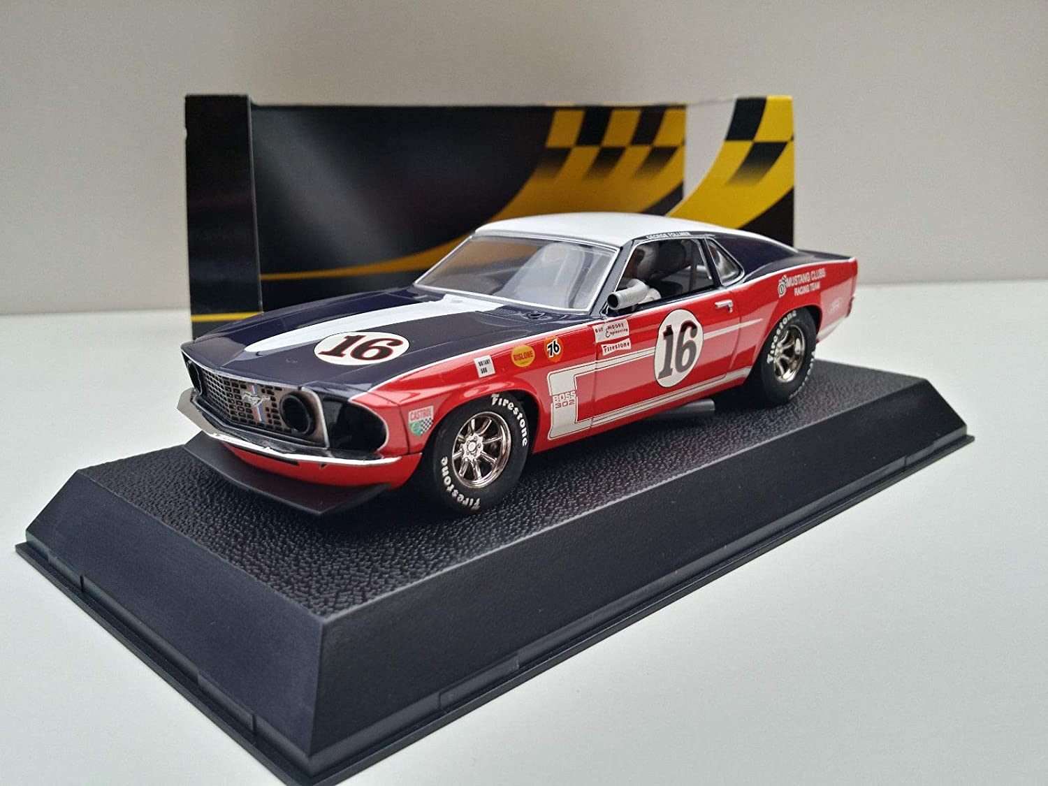 Slot scx scalextric superslot h2402 ford mustang 1969 nº16 amazon es juguetes y juegos