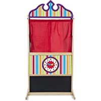 Melissa & Doug Deluxe Puppet Theater Sturdy Wooden Construction