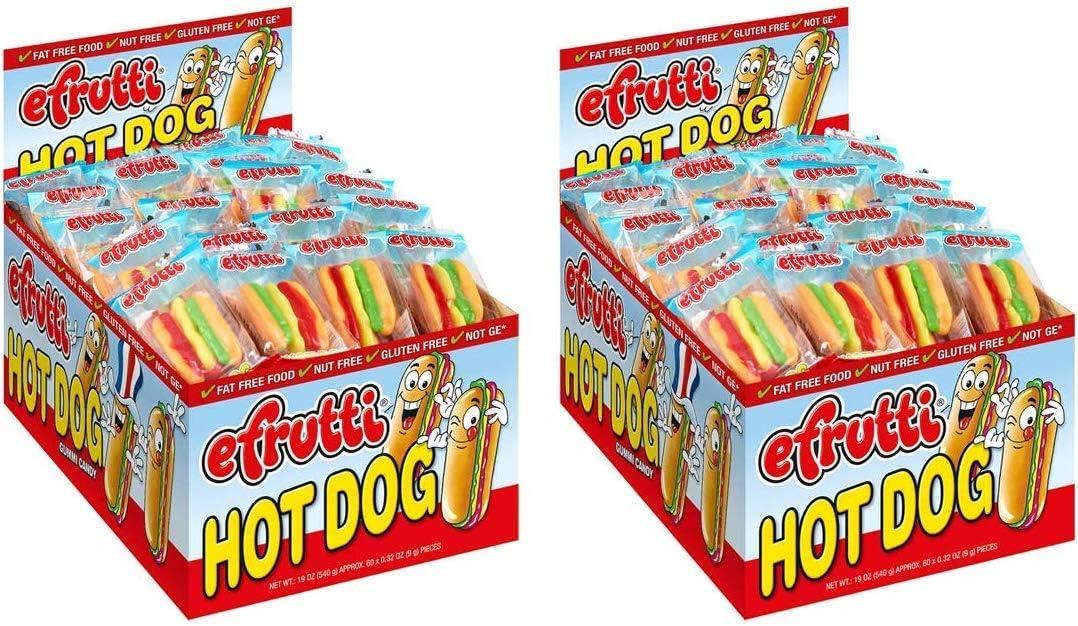 E.Frutti Gummi Hot Dogs (60 Count)