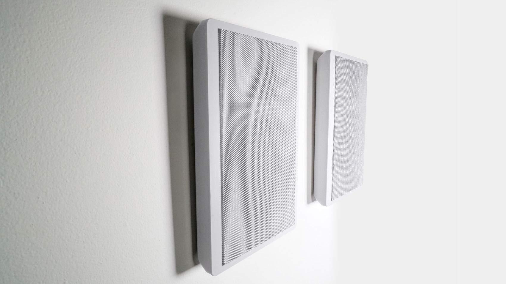 2 Rockville RockSlim White Home Theater 5.25'' 240w Easy Wall Mount Slim Speakers