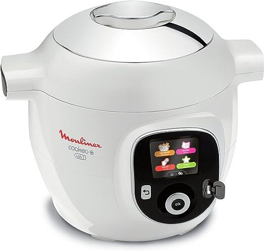 Moulinex Cookeo - Robot inteligente de cocina + USB con 150 recetas (idioma español no garantizado), capacidad de 6 l, acabado cromado - YY2943FB: Amazon.es: Hogar