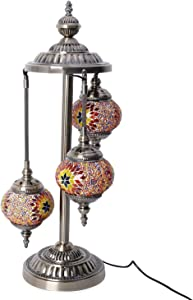Shop LC Delivering Joy Home Decor Handmade Red Chandelier Style Table Desk Lamp Nightstand with Bronze Base Bedroom Light Table Light Reading Light