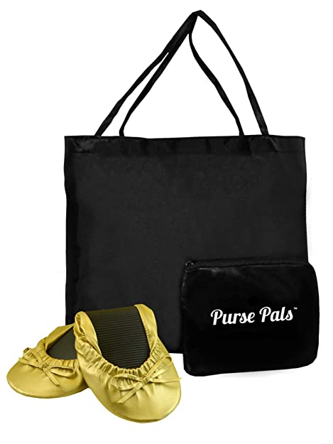 16c864dcc Solemates Purse Pals Foldable Travel Ballet Flats for Women with Compact  Carrying Tote Bag
