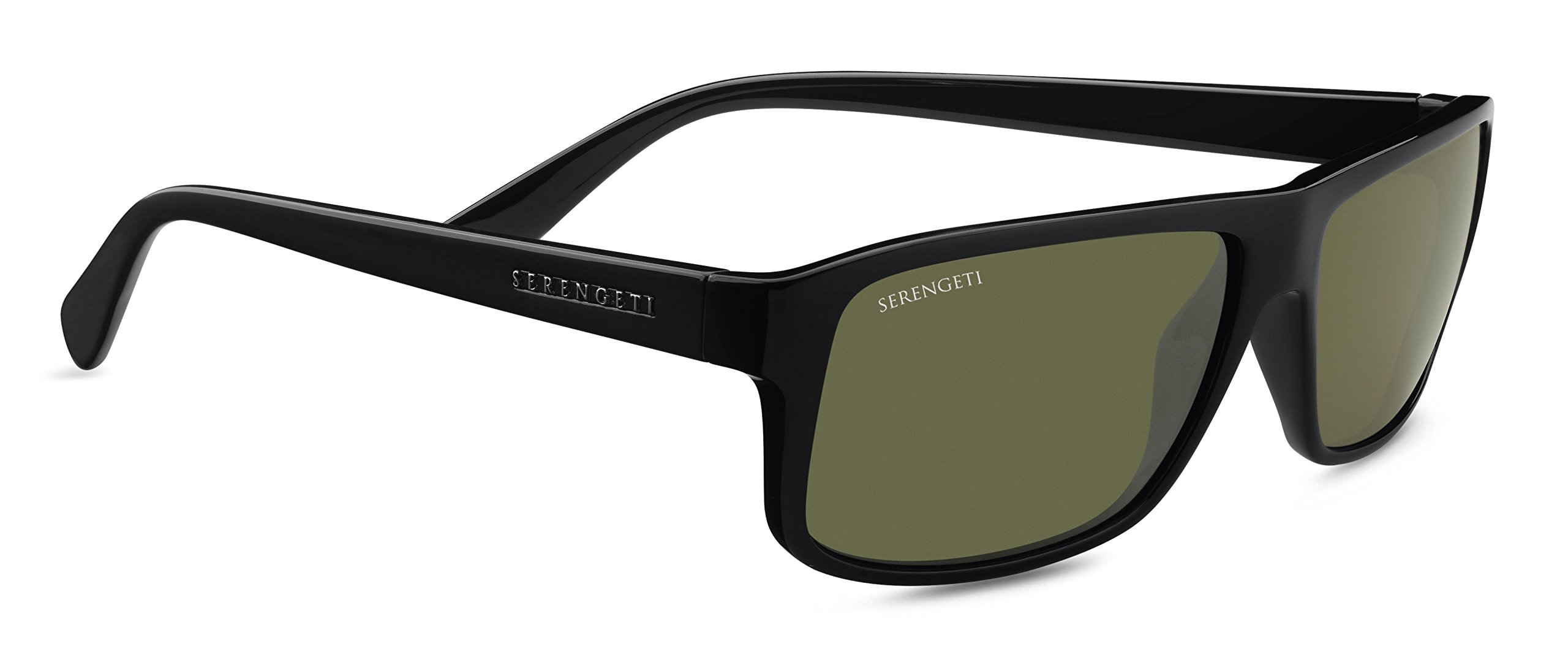 Serengeti 7949 Claudio, Shiny Black Frame, Polarized 555nm Lens
