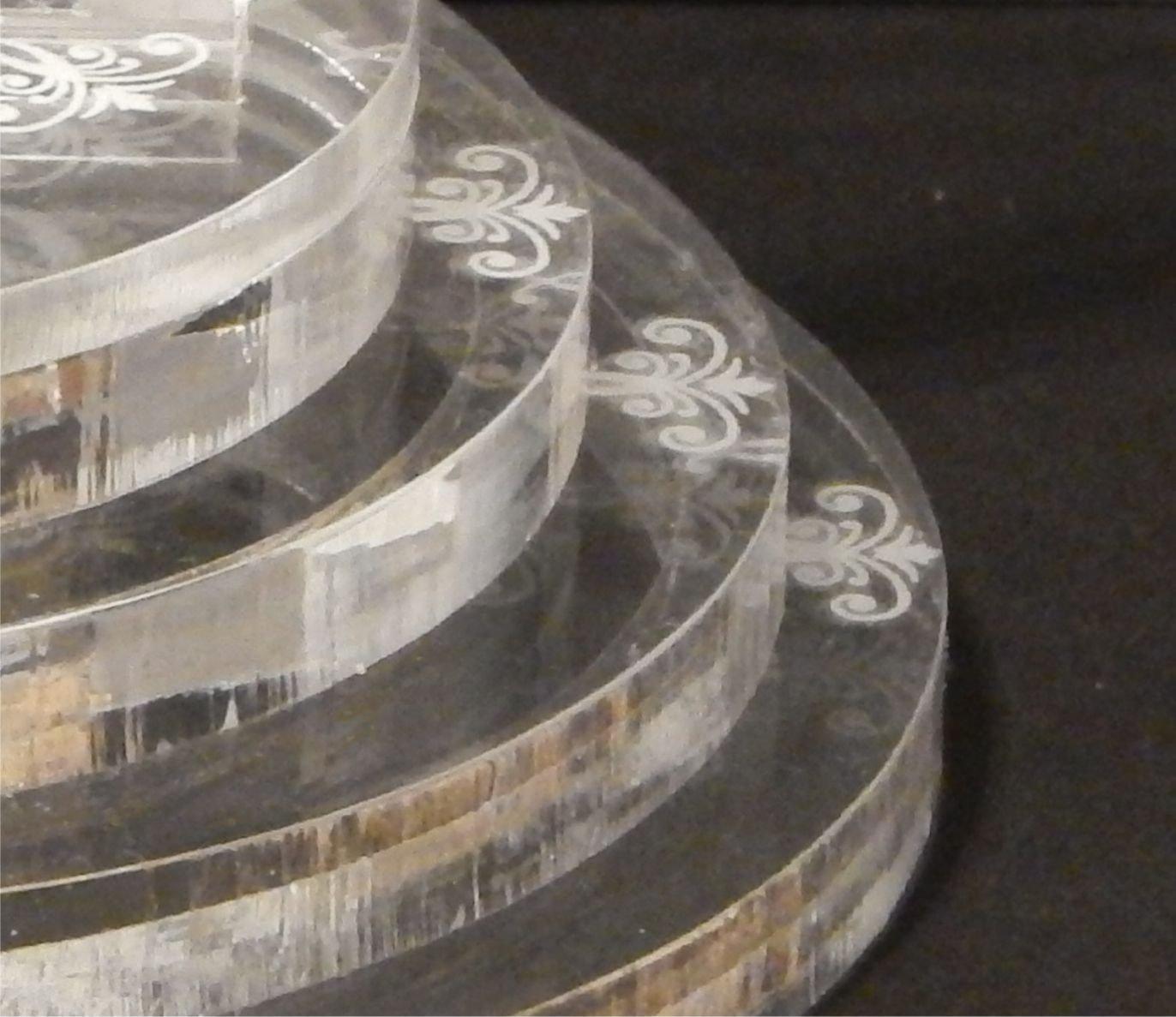 Flutes 30 Pc Las Vegas Lighted Wedding Cake Topper  Acrylic Key Chain Favors