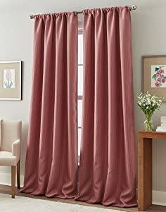 "Peri Home Formosa Curtain Panel, 84"", Berry"