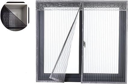 Liveinu Moustiquaire de Porte Ou Fenetre Magnetique Rideau Moustiquaire De Porte Avec Aimants Gris 80x120cm
