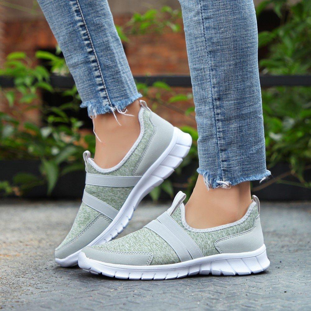 PENATE Men Women Fashion Running Shoes Couple Breathable Scrub Mesh Canvas Light Casual Sports Shoes