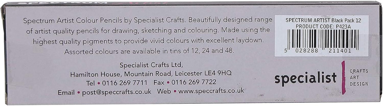 Specialist Crafts Spectrum Artist color negro L/ápices de colores 12 unidades