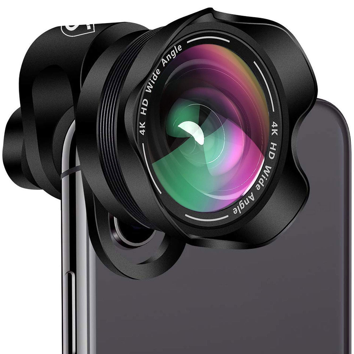 Phone Camera Lens Kit - 5 in 1 Universal Set for iPhone, Samsung, Smartphones and Tablets - 2X Zoom Telephoto, 198 Fisheye, 0.63X Wide Angle, 15X Macro, CPL Filter Lens for Cell Phones SVIT