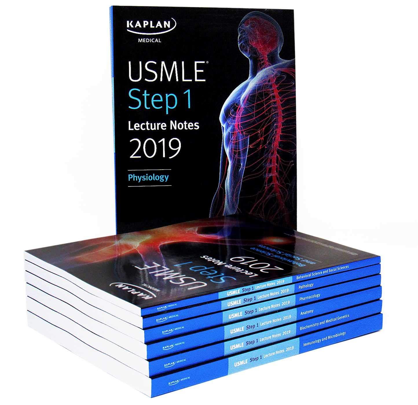 USMLE Step 1 Lecture Notes 2019:  7-Book Set (Kaplan Test Prep) by Kaplan Publishing