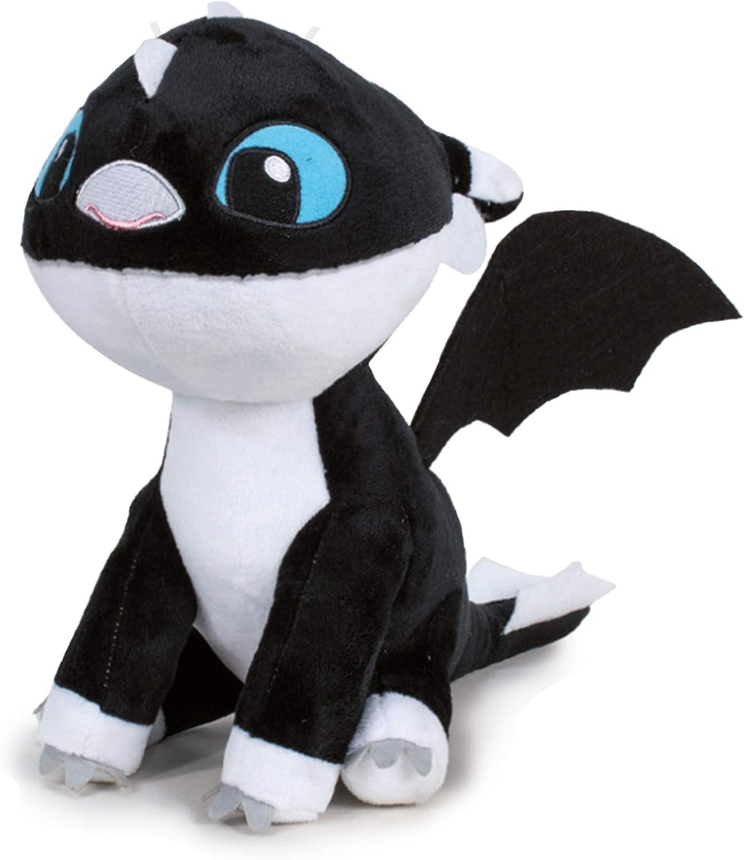 HTTYD Dragons, como Entrenar a tu dragón - Peluche Bebe Dragon Negro de Ojos Azules 10