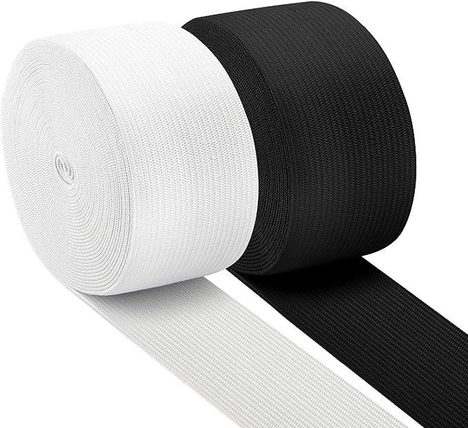 1roll100yard  White Stretch Flat Elastic Waist Band Sewing half inche wide 12mm