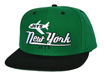 9ccfe7e5f NEW YORK JETS Retro Old School Snapback Hat - NFL Cap - 2 Tone Green ...