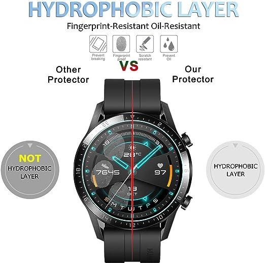 LUXACURY Huawei Watch GT 2 Protector Pantalla Cristal Vidrio ...