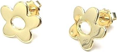 COLECCION7X7,pendiente oro chapado,artesanal,sin niquel y antialergico,medida15x12mm,fabricado en España: Amazon.es: Joyería