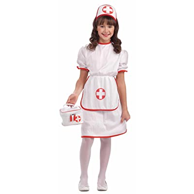 Forum Novelties Classic White Nurse Costume, Child Large: Toys & Games