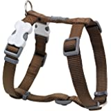Red Dingo Plain Brown Dog Harness 20mm x (Neck: 36-59cm/Body 45-66cm)
